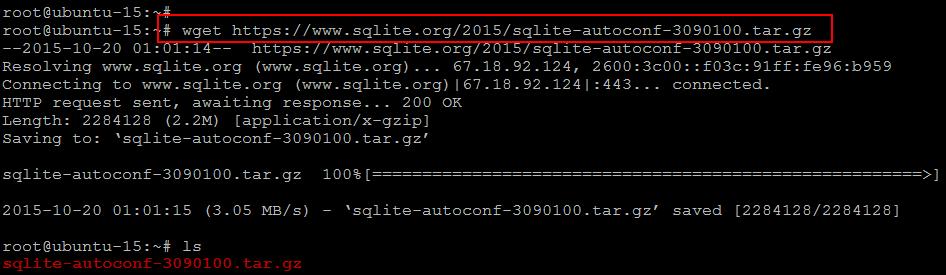 wget SQLite