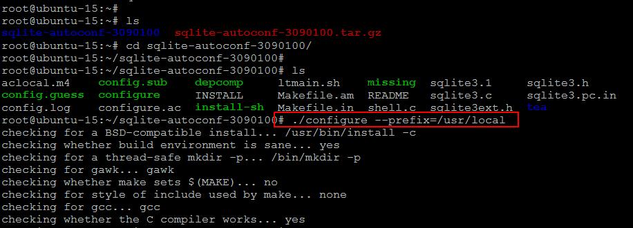 SQLite Installation