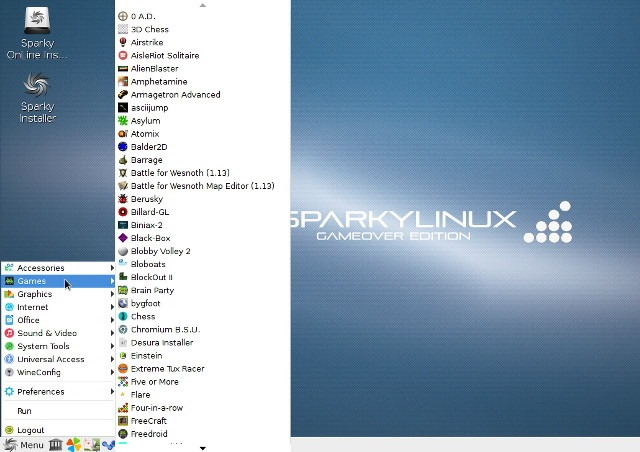 SparkyLinux – GameOver Edition