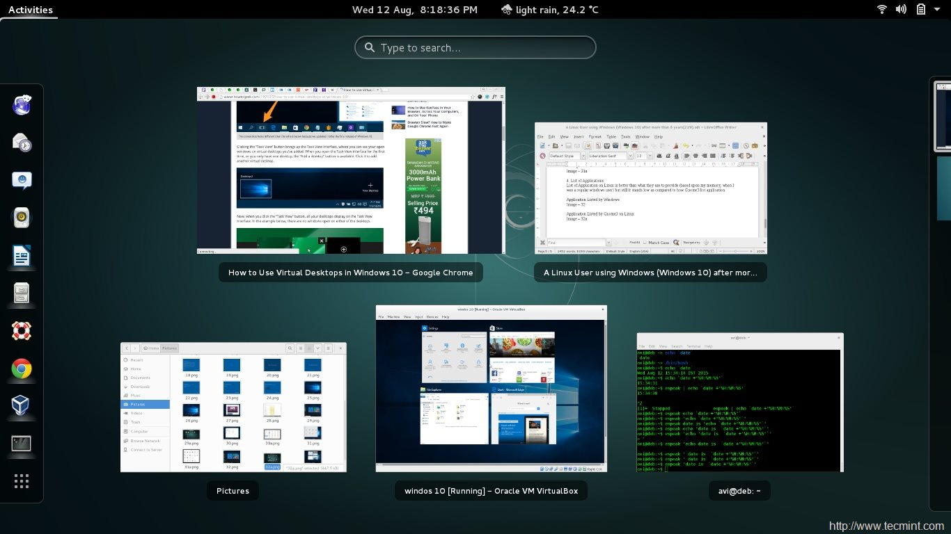 Virtual Desktop on Linux