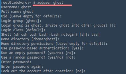 添加用户 Ghost