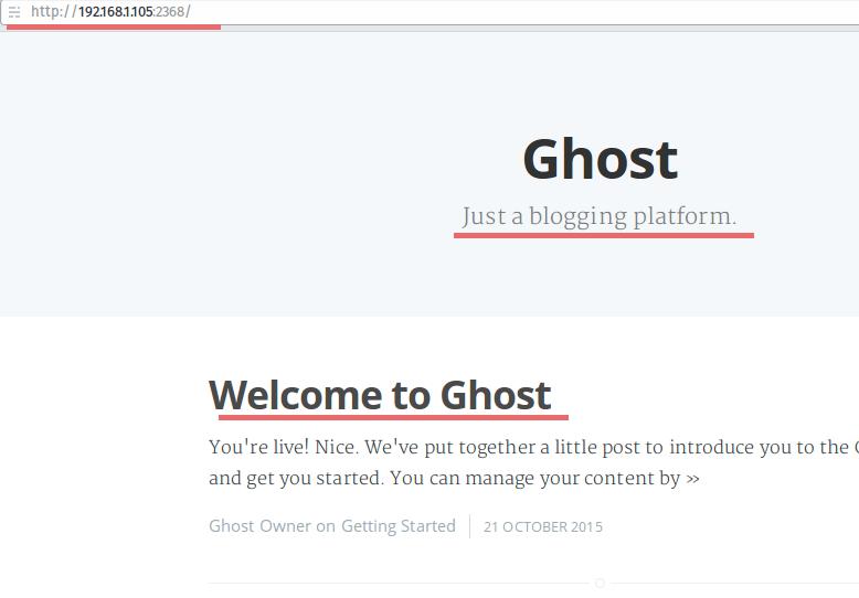 Ghost 安装完成