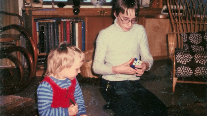 Linus Torvalds和弟弟在一起