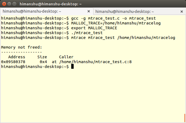 cw mtrace output
