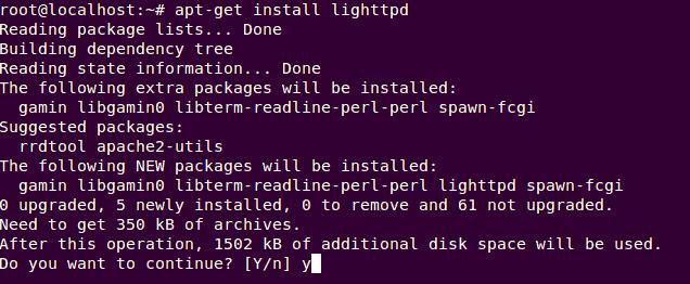 Install lighttpd ubuntu