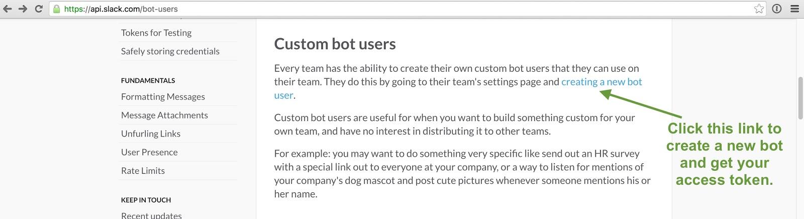 定制聊天机器人用户页面