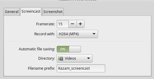 kazam screenshot