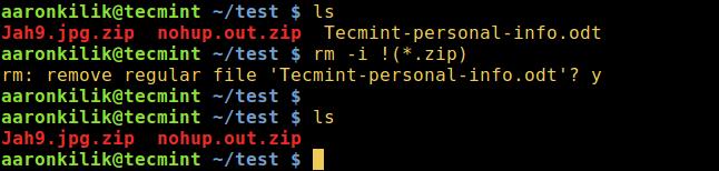 在 Linux 下删除除了 Zip 文件之外的所有文件