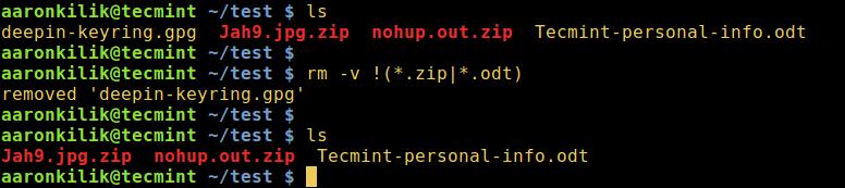 删除除了指定文件扩展的所有文件