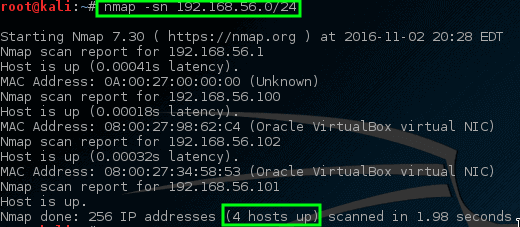 Nmap - Ping All Connected Live Network Hosts