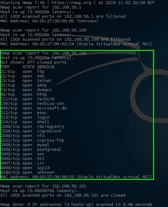Nmap - Network Ports Scan on Host