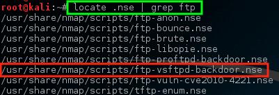 Nmap - Scan VSftpd Vulnerability