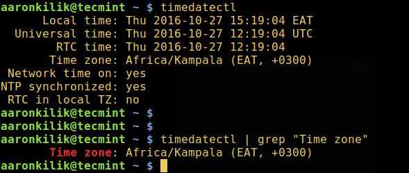 Find Current Linux Timezone