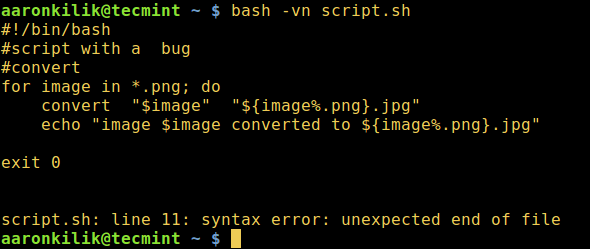 Enable Verbose and Syntax Checking in Script