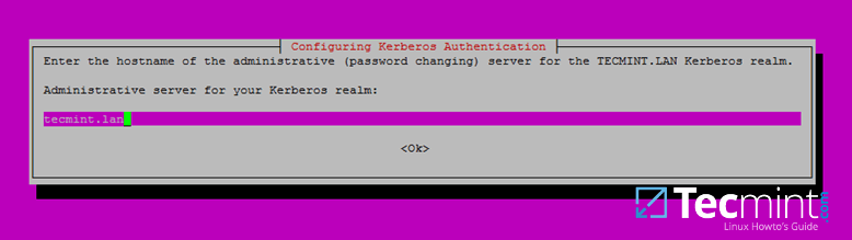 Set Hostname Administrative Server