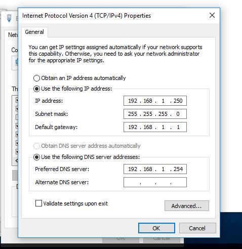 Add DNS and Samba4 AD IP Address