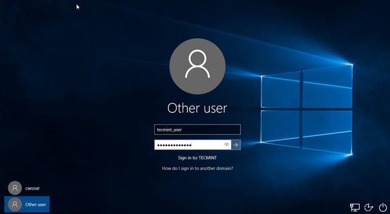 Login to Windows Using Samba4 AD Account