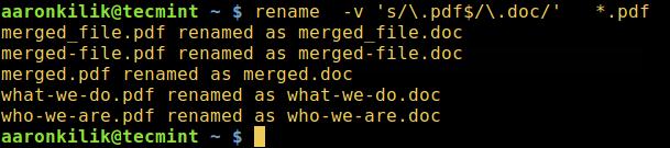 在 Linux 中重命名多个文件