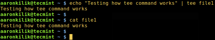 tee Command Example