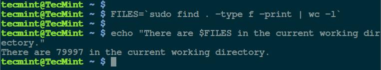显示目中包含文件的数量