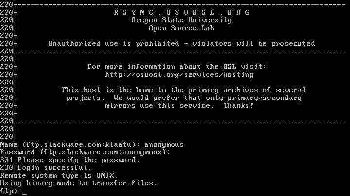 slackware 1.0 screenshot