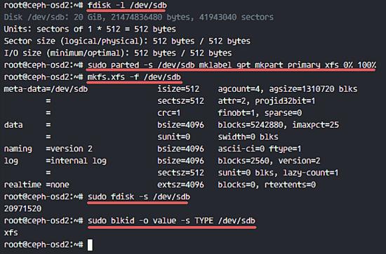 Format partition ceph OSD nodes