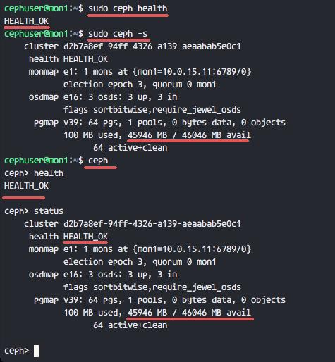 Ceph Cluster Status