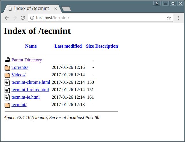 Apache 目录列举