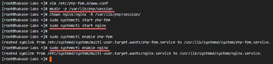 启动 php-fpm 和 Nginx