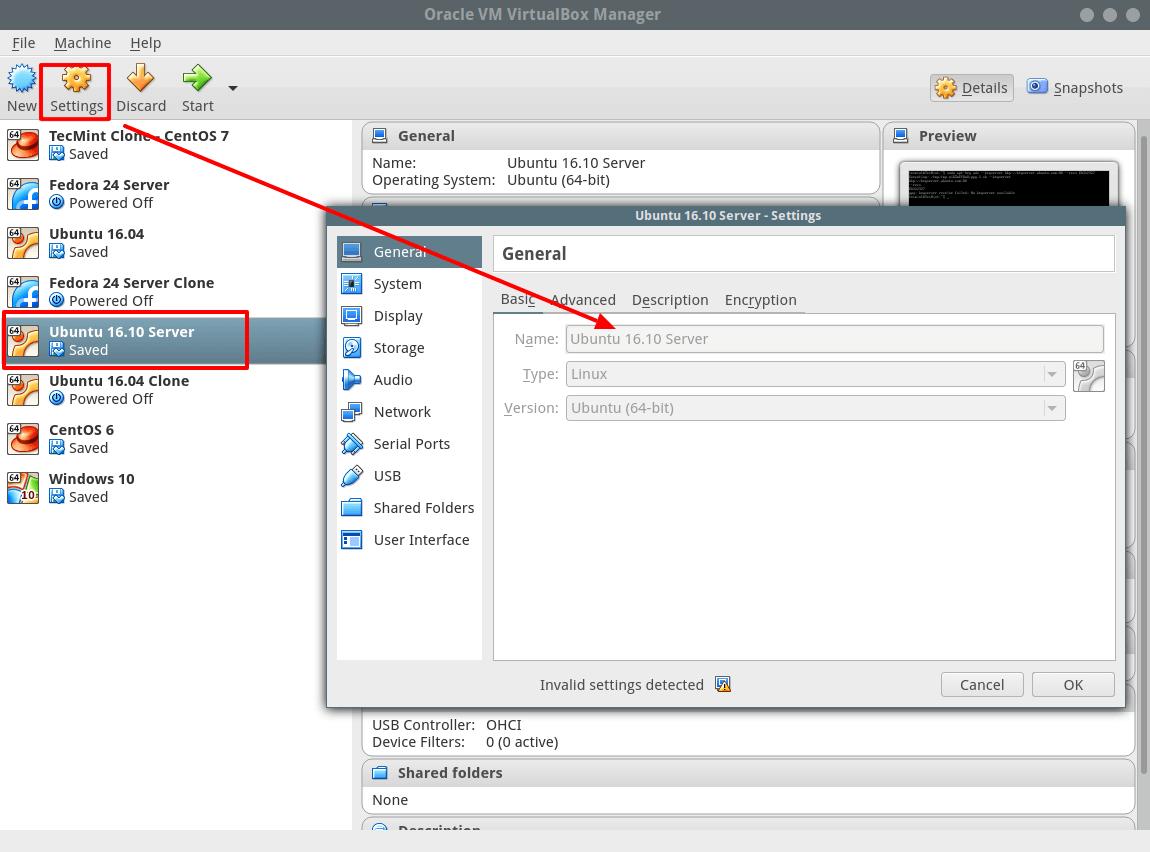 Configure VM Settings