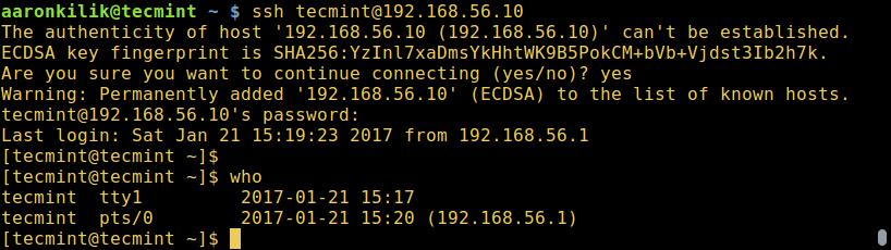 Connect Guest VM using SSH