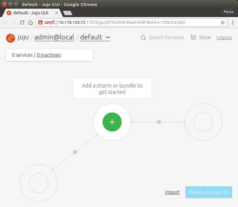 Juju web UI