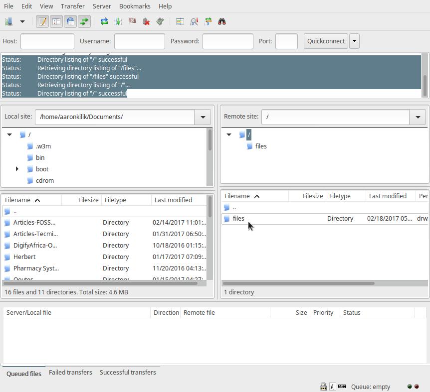 连接Ubuntu的FTP服务器