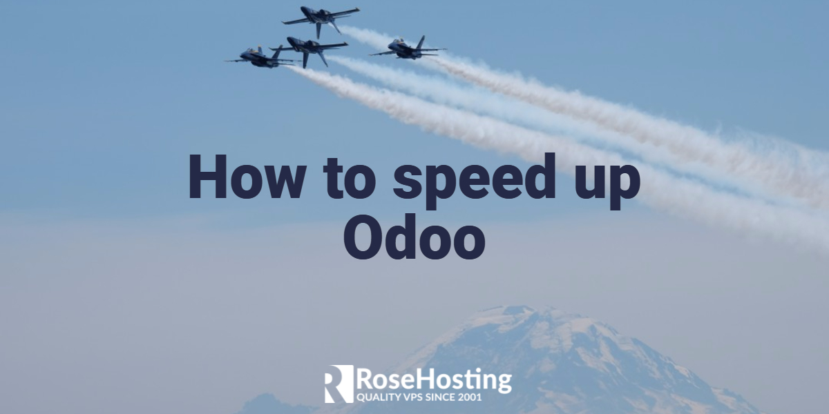 speed up odoo