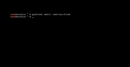 Generating /etc/fstab