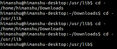 The Linux cd command