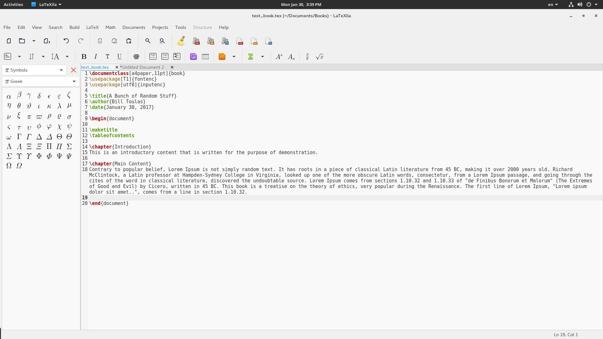 LaTex 的格式
