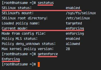验证 SELinux 运行状态