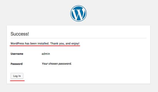 安装 Wordpress - 成功安装