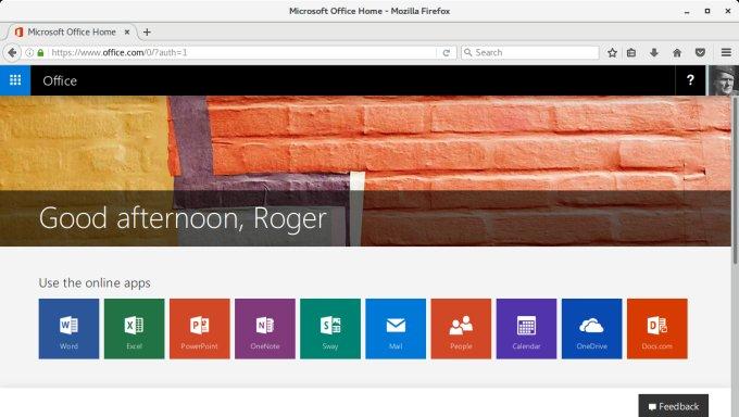 微软 Office, 欢迎页面