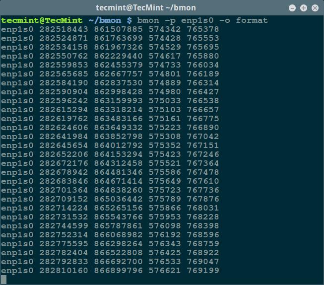 bmon - Format 输出模式