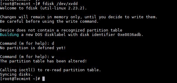 Delete Linux Partition