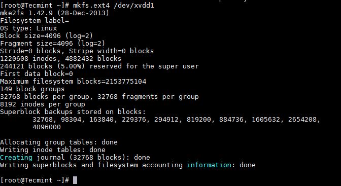 Format Linux Partition
