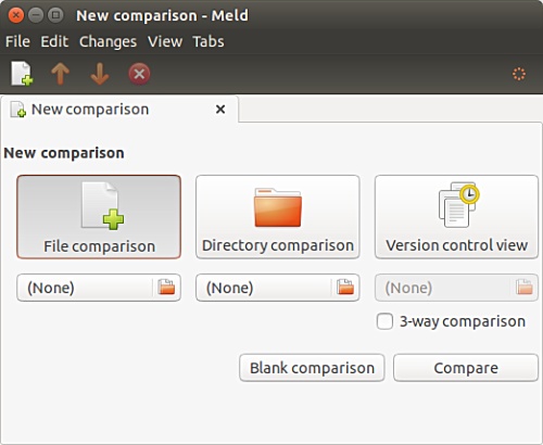 Meld file comparison