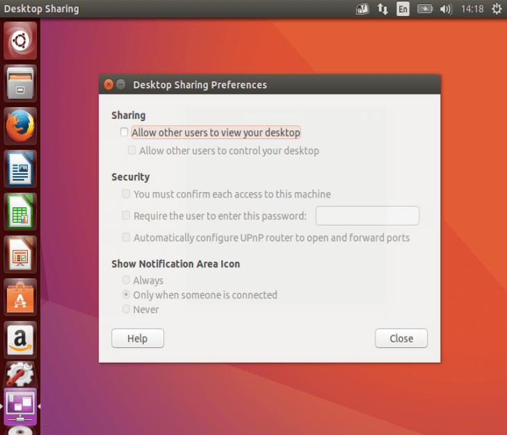 Desktop Sharing Preferences