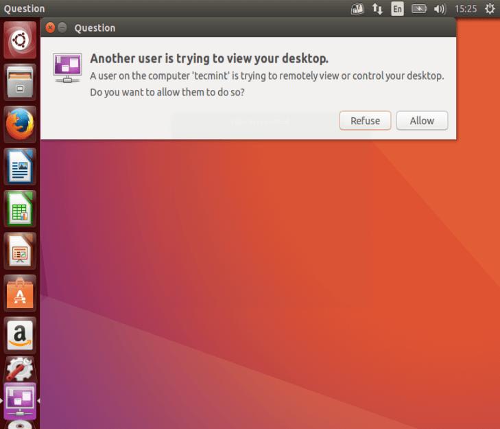 Allow Remote Desktop Sharing