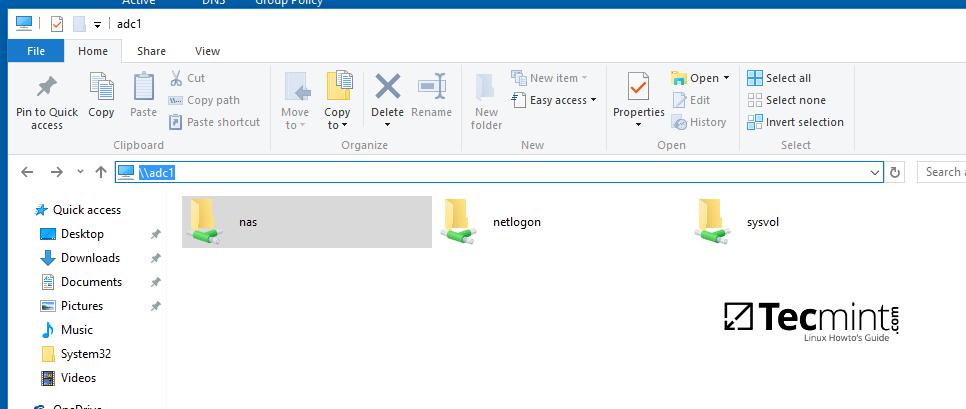 Access Samba Share Directory from Windows