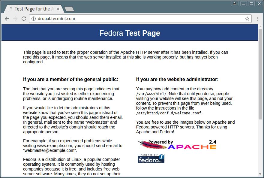 Apache 默认页面
