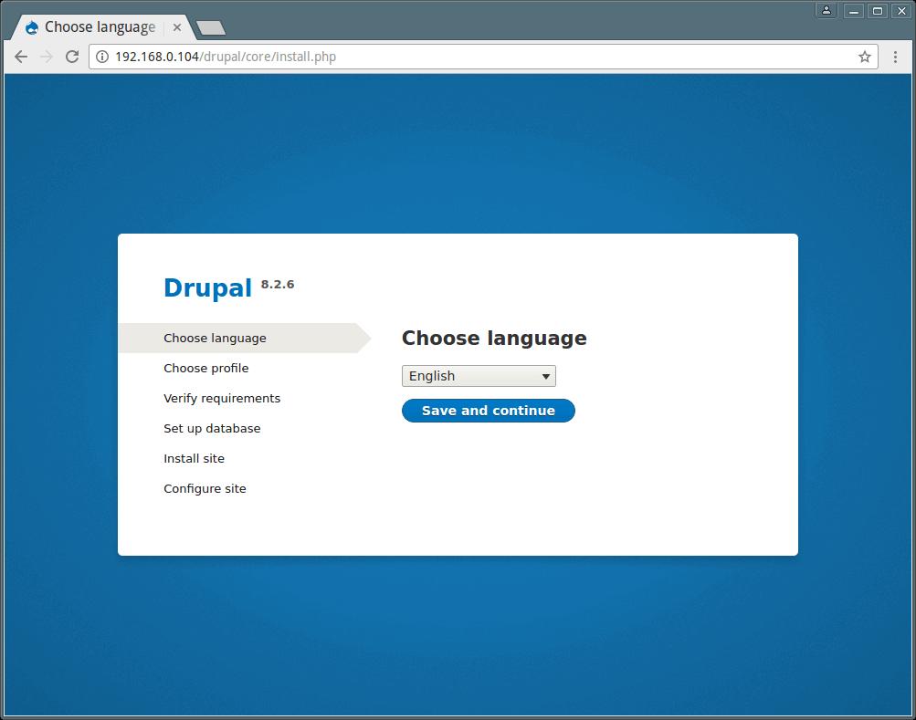 Drupal 安装语言