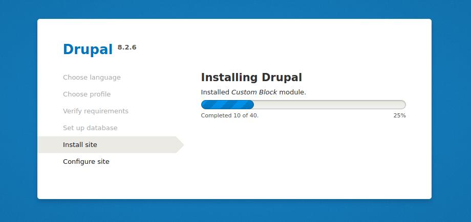 Drupal 安装